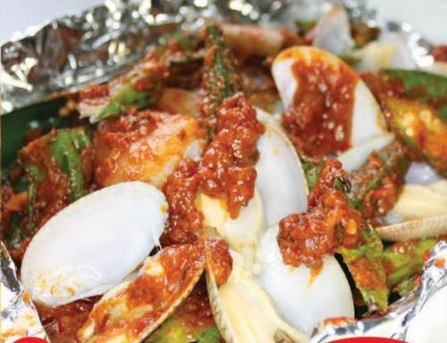 Grilled Clams with Vegetables