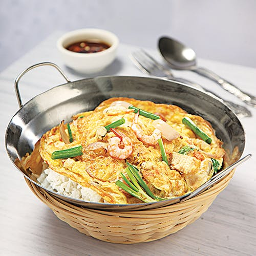 Egg Fu Yong Rice