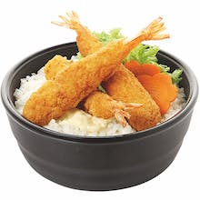 Fried Breaded Prawn Don
