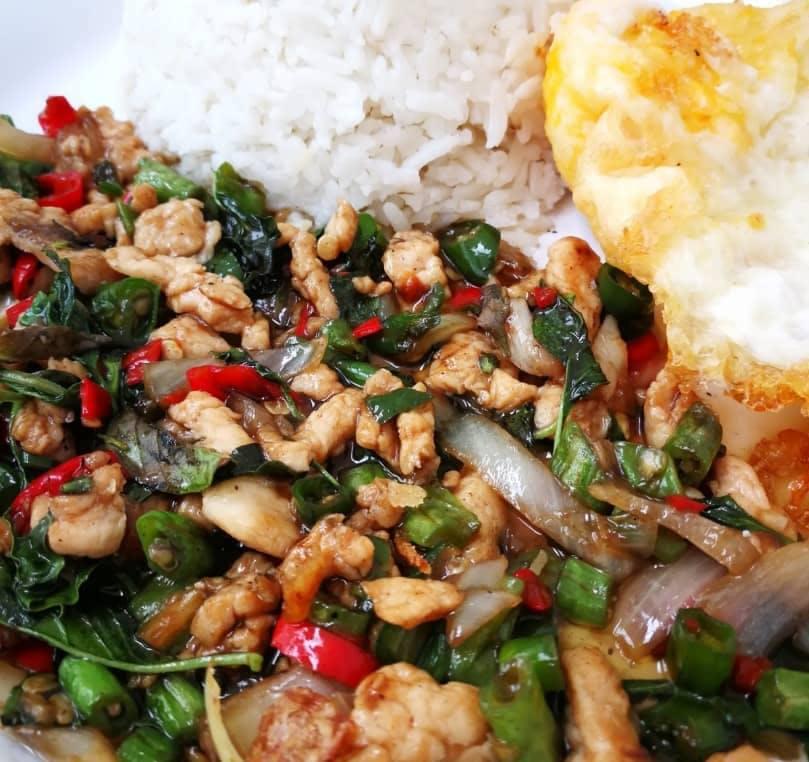 Nasi Goreng Paprik + Egg + Drink