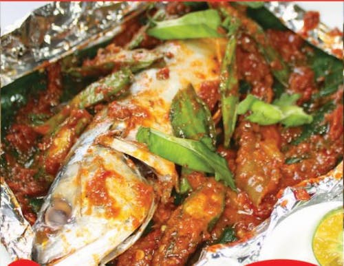 Grilled Kembong with Vegetables