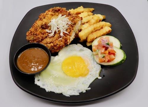 Chicken Chop with  Brown Sauce