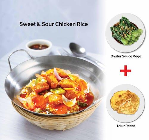 Sweet & Sour Chicken + Egg & Veg
