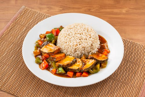 Black Bean sauce Fish with RIce