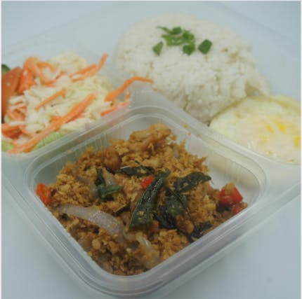 Salted Egg Rice Set