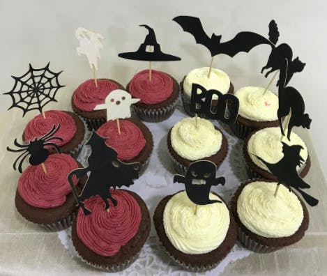 Spooky Toppers Halloween Cupcakes