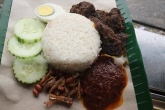 Beef Rendang Nasi lemak