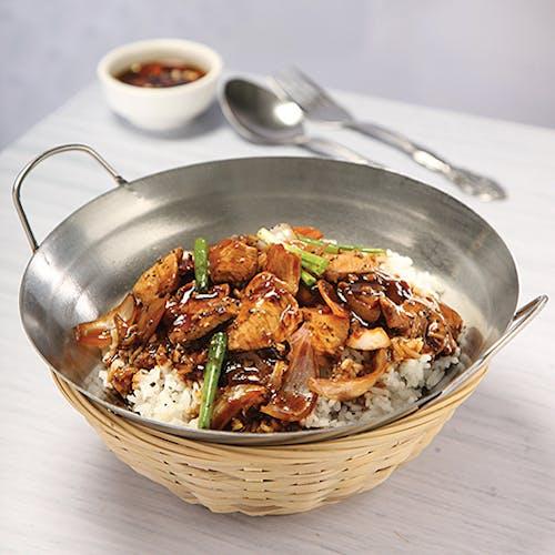 Black Pepper Chicken Rice
