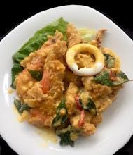 Salted Egg Seafood Rice & Fried Egg