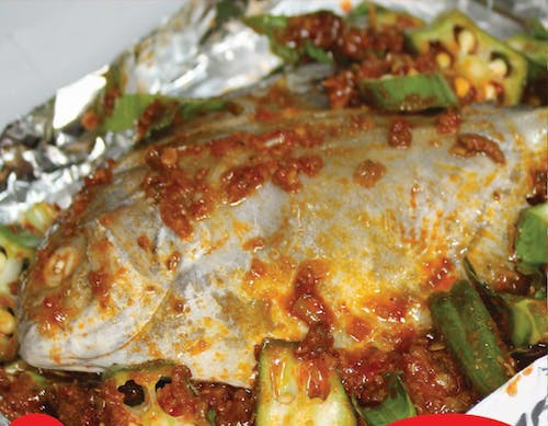 Grilled Bawal with Vegetables