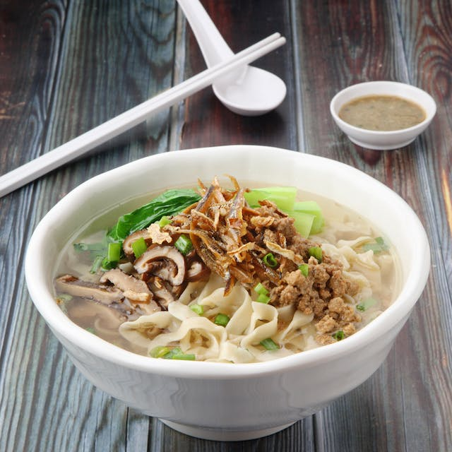 Traditional Pan Mee Soup