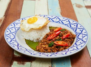 R02 Kra Pow Chicken Rice