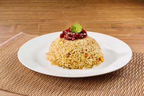 Salted Fish Fried Rice (Vegetarian)