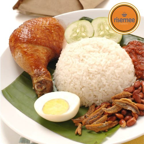 Nasi Lemak Fried Chicken (Thigh)