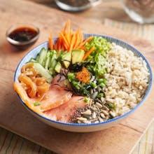 Smoked salmon bowl (413 kcal)