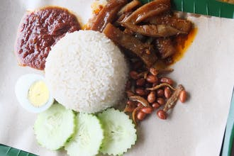 Cuttle Fish Sambal Nasi Lemak