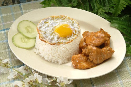 Curry Chicken Rice + Egg