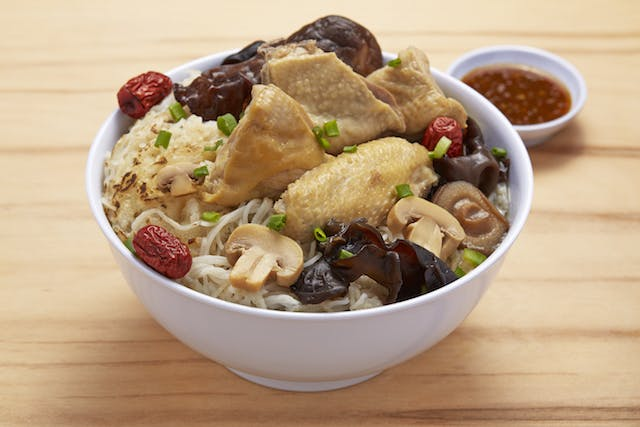 Chicken Mushroom with Mee Hoon