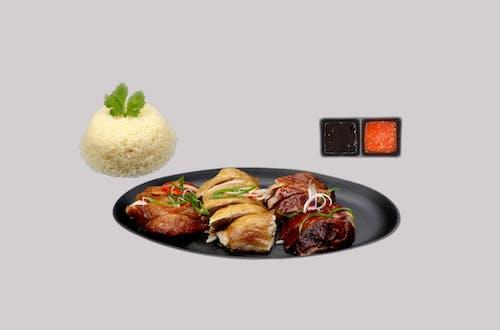Roasted Duck + Soy Sauce Chicken + BBQ Chicken