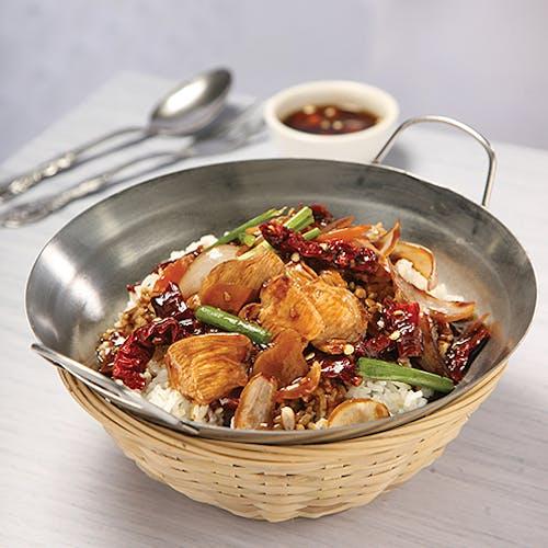 Chili Chicken Rice + Egg & Vegge