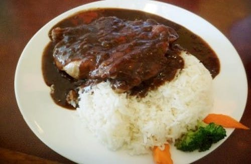 Black Pepper Chicken With Rice