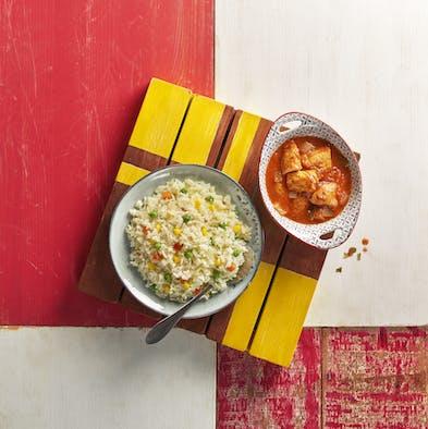 Saucy Tenders, Mediterranean Rice