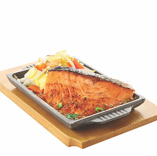 TEPPAN YAKI SET: Teppan Salmon
