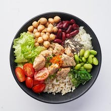 Chicken Teriyaki Poke Bowl (553 kcal)
