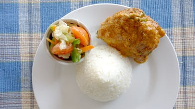 Nasi, Ayam Rendang, Sayur Campur