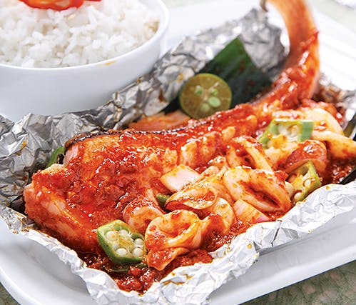 Ikan Pari + Sotong Set