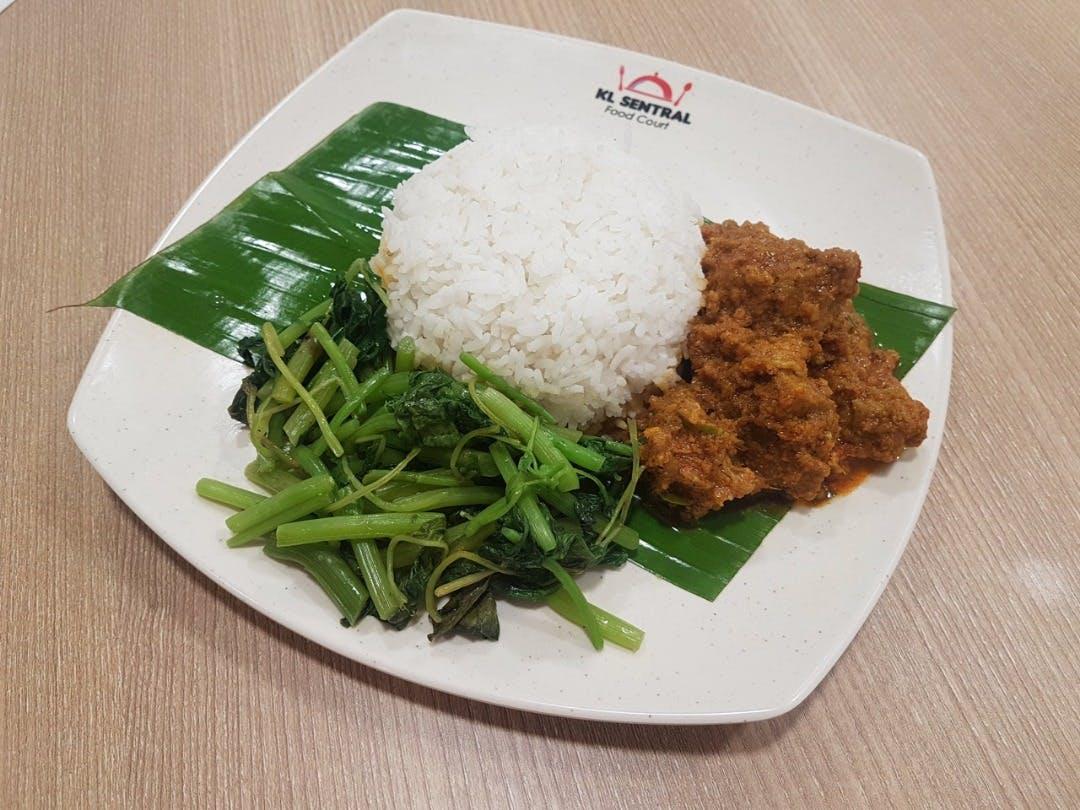 Nasi Putih Beef Rendang