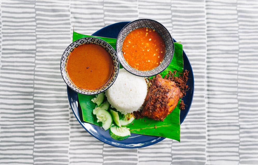 Nasi Kukus Ayam Berampah (chicken)