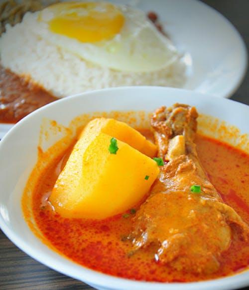Nasi Lemak Curry Chicken