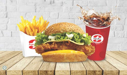 Broasted Chicken Burger
