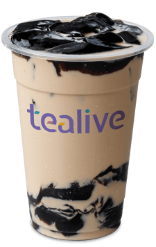 Classic Roasted Milk Tea with Grass Jelly