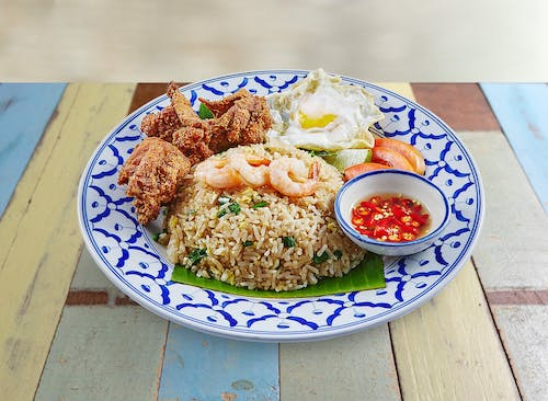 R22 Bangkok Fried Rice with Thai Fried Chicken