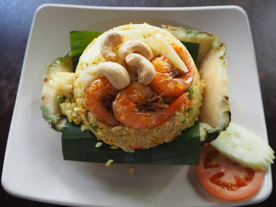 Pineapple Fried Rice (Seafood)