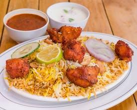 Chicken Pakoda Cashewnut Biryani