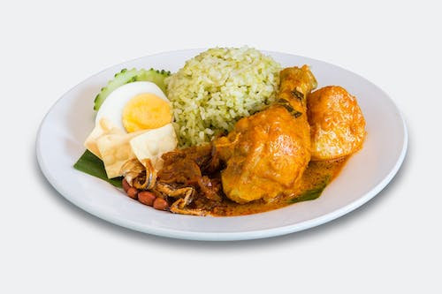 DC6: Nasi Lemak with Chicken Curry