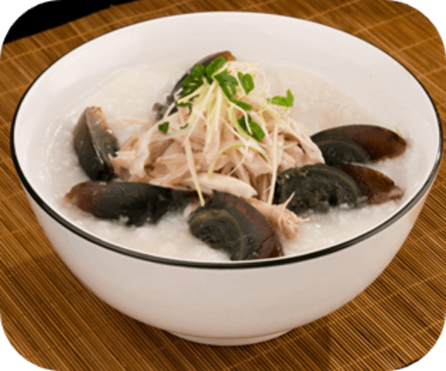 Shredded Chicken & Century Egg Porridge