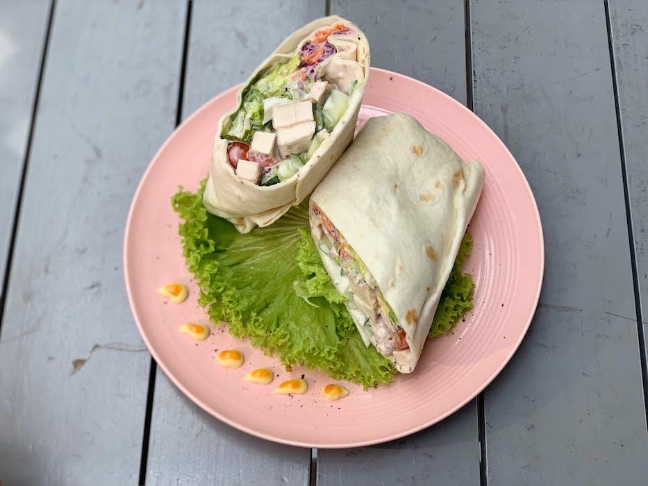 Caesar Chicken Salad Wrap