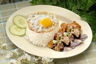 Mushroom Chicken Rice + Egg