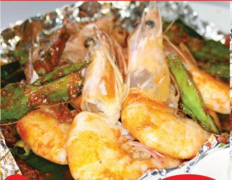 Grilled Prawn with Vegetables