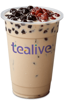 Red Bean Pearl Milk Tea