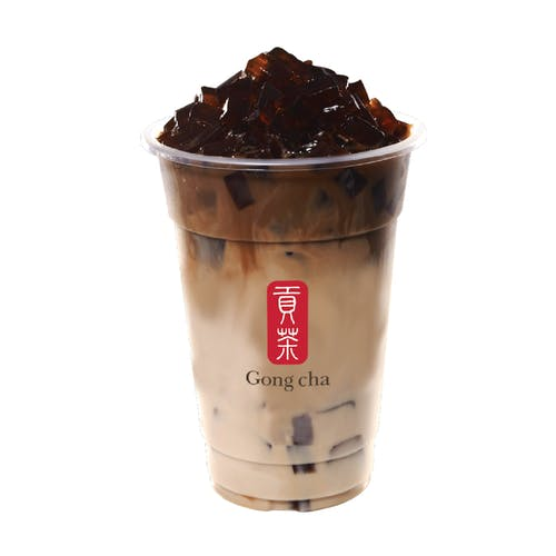 Earl Grey Milk Tea with Coffee Jelly