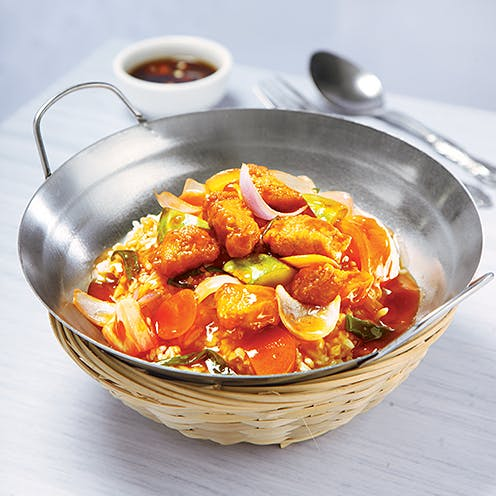 Sweet & Sour Chicken/Fish Rice