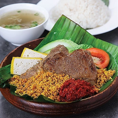 Daging Penyet Set