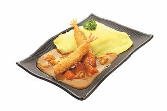 CURRY OMURICE: Fried Breaded Prawn