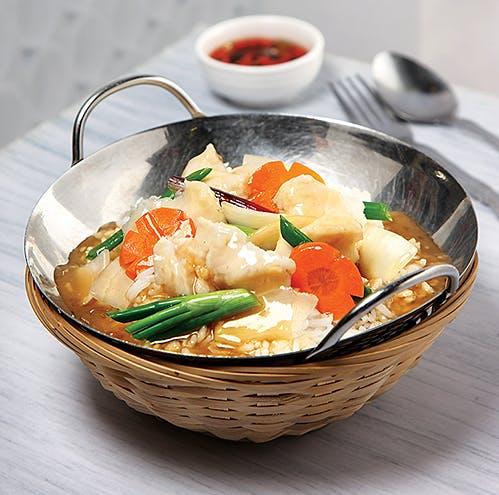 Ginger Onion Fish Rice