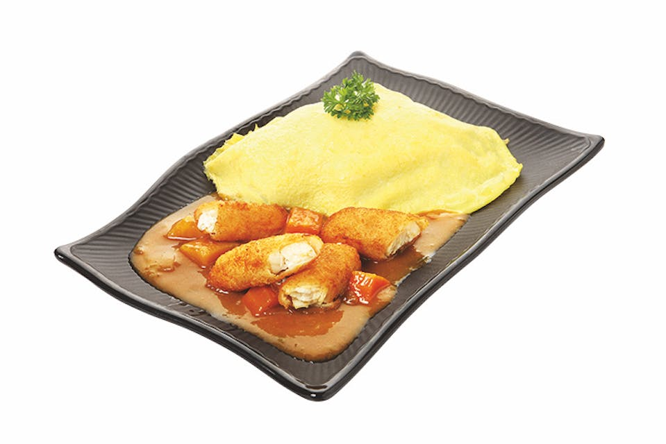 CURRY OMURICE: Fried Breaded Fish
